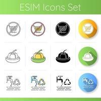 conjunto de ícones de dicas de segurança ecológica