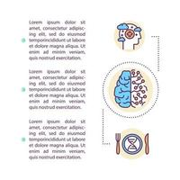 ícone do conceito de hackeamento da mente com texto vetor