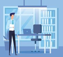 trabalhador elegante empresário no cenário do escritório