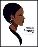 Poster minimalista do vetor do dia internacional da mulher