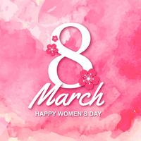 feliz dia das mulheres internacionais vetor