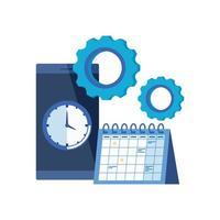 dispositivo smartphone com lembrete de calendário vetor