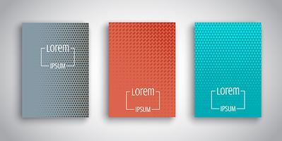 Desenhos abstratos para modelos de brochuras