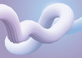 Fundo de forma fluida 3D vetor