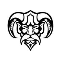 Hades, deus grego, cabeça, mascote vista frontal