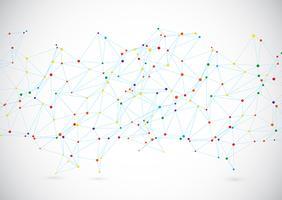 Fundo de moderna tecnologia com linhas e pontos de conexão