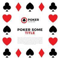 quadro de vetor de borda de pôquer. borda das cartas de jogar poker, ace frame