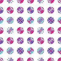 pixels digitais criativos em padrão sem emenda de vetor de forma de círculo. minúsculos quadrados em forma redonda. elemento de design de fundo digital vetorial
