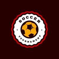 futebol ou futebol tipografia de esporte profissional moderno em estilo retro. vector design emblema, emblema e modelo desportivo design de logotipo