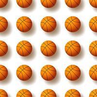 padrão sem emenda com bola de basquete. ilustração vetorial. ideal para papel de parede, capa, invólucro, embalagem, tecido, design têxtil e qualquer tipo de decoração. vetor
