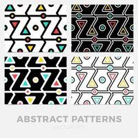 coleção de padrões geométricos sem costura listrados. design digital. vetor
