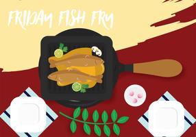 Sexta-feira Fish Fry Vector Design