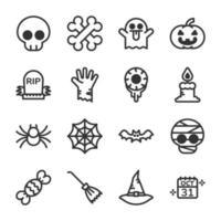 conjunto de ícones do dia das bruxas