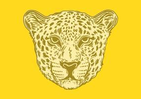 retrato de um jaguar manchado