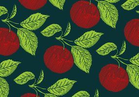 padrão de maçã retro vetor