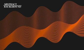 fundo abstrato moderno com linhas onduladas em marrom vetor