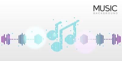 conceito de design de fundo musical para site de banner e aplicativo vetor