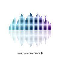 vetor de design de equalizador de onda de áudio inteligente em fundo branco