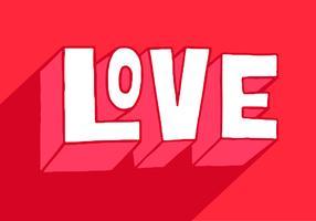 Dia dos namorados amor letras vetor