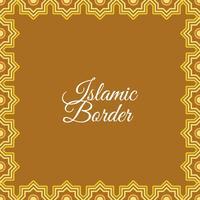 Fundo islâmico plano do vetor da fronteira