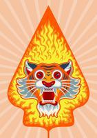 ilustração do wayang Gunungan vetor
