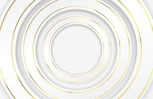 círculos brancos luxuosos com bordas douradas