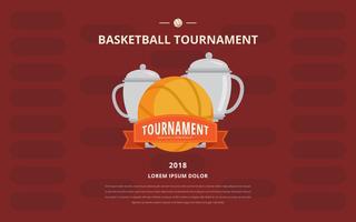 Modelo de cartaz de suporte de torneio de basquete vetor