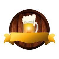 desenho de vetor de caneca de cerveja isolada
