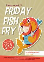 Sexta frita de peixe vetor