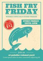 Convite da fritada dos peixes de sexta-feira vetor