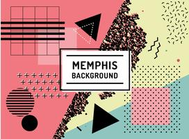 Fundo colorido de Memphis vetor