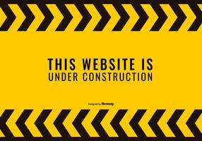 Website sob a ilustração Construnction vetor