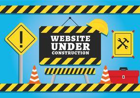 Website em construção vetor