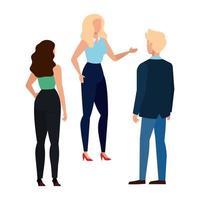mulheres e homens design de vetor de avatar