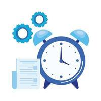 despertador com arquivo de documento vetor
