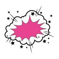 ícone de estilo pop art na nuvem vetor