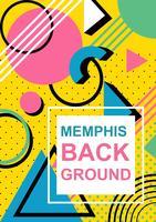Fundo Retro Memphis vetor