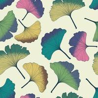 padrão de folhas de ginkgo.