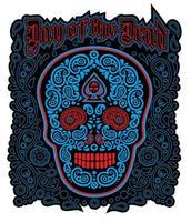 dia do crânio morto vetor