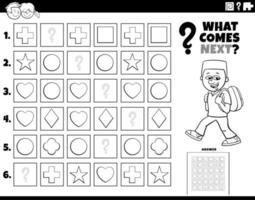 preencha a tarefa padrão para a página do livro de colorir infantil vetor