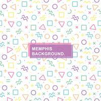 Fundo Memphis sem costura vetor