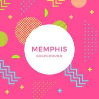 Plano de fundo do vetor Memphis