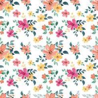 padrão sem emenda com aquarela tema floral vetor