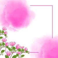 fundo aquarela floral com conceito rosa vetor