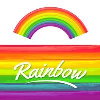 Textura da aguarela do arco-íris vetor