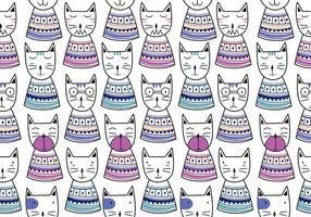 padrão sem emenda com desenho escandinavo de gatinhos coloridos fofos. mão infantil criativa desenhada estilo único. bom para bebê e crianças moda têxtil impressão. tecido de elemento de ilustração vetorial pronto. vetor