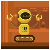 design de personagem robô vetor