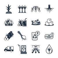 conjunto de ícones de cana vetor