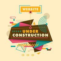 site em construção vetor