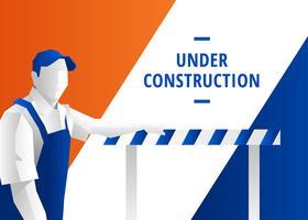 Website em construção do vetor da página
